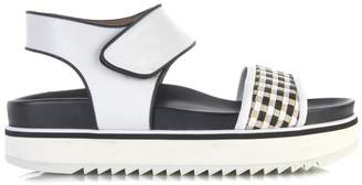 Sportmax Woven-strap leather sandals