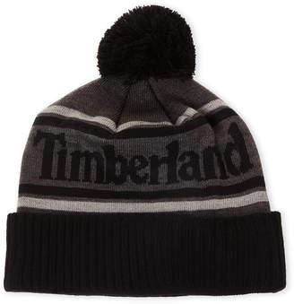 Timberland Logo Pom-Pom Beanie