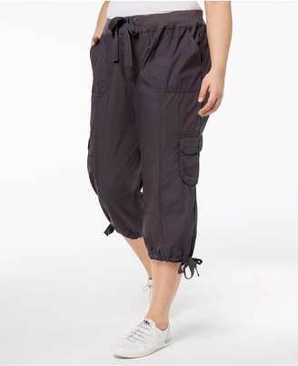 Calvin Klein Tie-Waist Cropped Cargo Pants