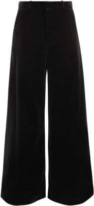Raey Wide-leg velvet trousers