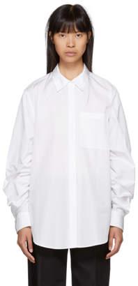 3.1 Phillip Lim White Gathered Sleeve Shirt