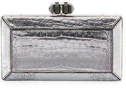Judith Leiber Couture Coffered Crocodile Minaudiere