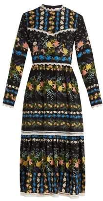 Erdem Georgie Mariko Meadow-print silk dress