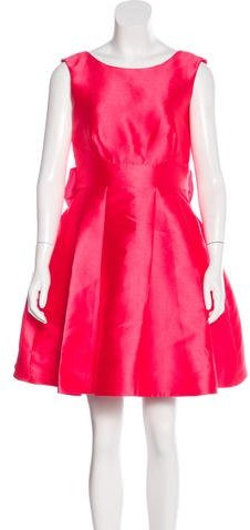Kate Spade Kate Spade New York Silk-Blend Bow-Accented Dress w/ Tags