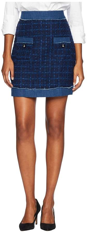 Kate Spade New York Broome Street Denim Tweed Skirt