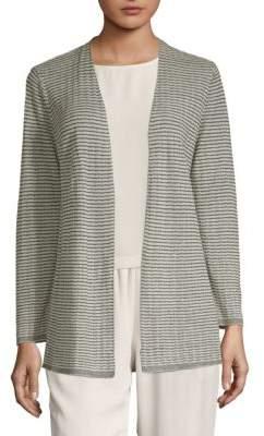 Eileen Fisher Textured Open Cardigan