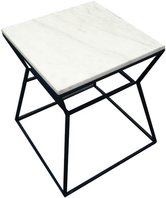 Pangea Geo Side Table Frame With Marbel Top
