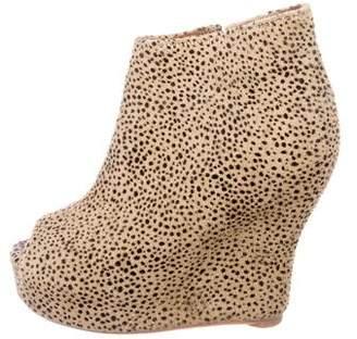 Jeffrey Campbell Smudge Peep-Toe Booties