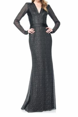 Tadashi Shoji Long Sleeve Gown $508 thestylecure.com