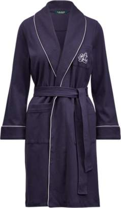 Ralph Lauren Quilted-Collar Cotton Robe