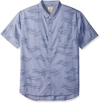 Quiksilver Men's Valley Groove Print Short Sleeve Button Down Shirt