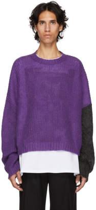 John Lawrence Sullivan Johnlawrencesullivan Purple and Grey Knit Sweater