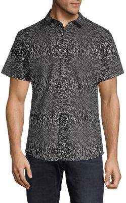 Slate & Stone Dot Print Short-Sleeve Button-Down Shirt