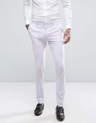 Asos Design Wedding Super Skinny Suit Pants In Lilac