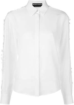 Rochas sheer sleeve detail shirt
