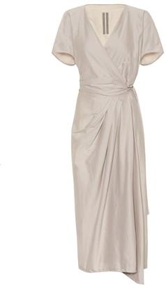 Rick Owens Limo cotton and silk midi dress