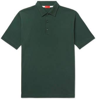 Isaia Garment-Dyed Cotton-Piqué Polo Shirt