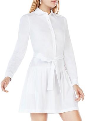 BCBGMAXAZRIA Mariela Drop-Waist Shirt Dress $198 thestylecure.com