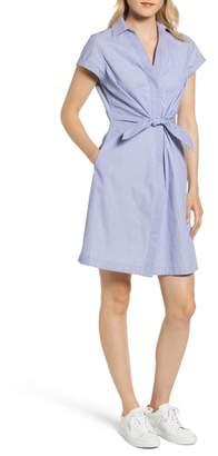 Vineyard Vines Tie Front Mix Stripe Cotton Dress