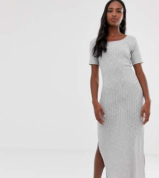Asos Tall DESIGN Tall rib maxi t-shirt dress