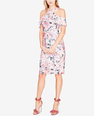 Rachel Roy Cold-Shoulder Floral Lace Dress