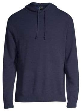 Polo Ralph Lauren Regular-Fit Long-Sleeve Cashmere& Wool Hoodie