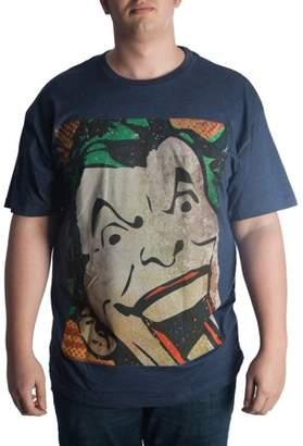 DC Comics Big Men's Joker Laughing Graphic T-shirt, Up To 6XL