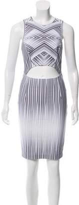 Torn By Ronny Kobo Striped Cutout Dress