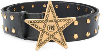 Gucci Star Studded Belt Black