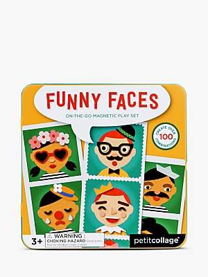 Petit Collage Funny Faces On-The-Go Magnetic Playset