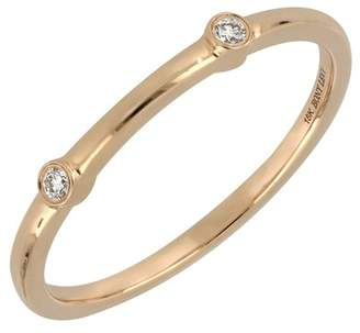 Bony Levy 18K Rose Gold Bezel Set Diamond Stacking Band Ring - 0.03 ctw