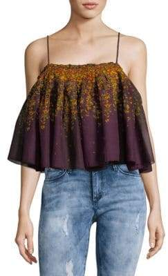 Free People Cotton Flounce Crop Top