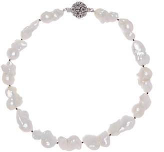 Stephen Dweck Sterling Silver White Baroque Pearl Necklace