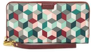 Fossil Emma Large Wrist Wallet - RFID Protection