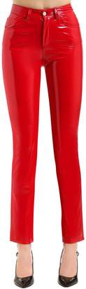 Fiorucci Yves Cigarette Vinyl Jeans-Style Pants