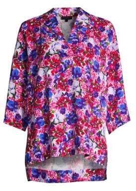Escada Narineta Floral Print Tunic