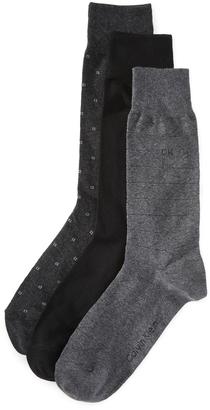 Calvin Klein Underwear 3 Pack Geometric Crew Socks $22 thestylecure.com