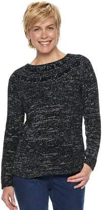 Croft & Barrow Women's Chenille Boatneck Sweater