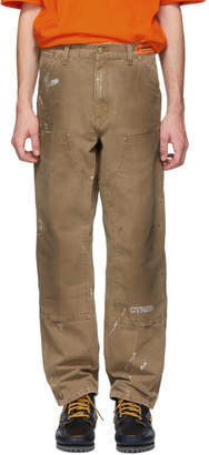 Carhartt Heron Preston Brown Edition Crystal Trousers