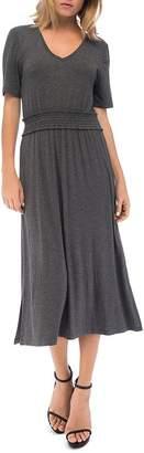 Bobeau B Collection by Simone Smocked-Waist Dress