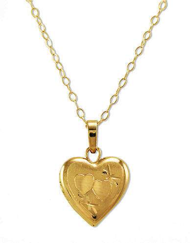 LORD & TAYLOR 14 Kt. Gold Small Heart Locket Necklace