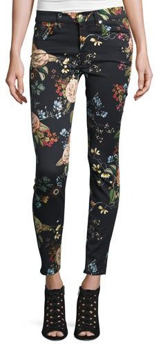 7 For All Mankind7 For All Mankind The Ankle Skinny Floral-Print Jeans, English Botanical