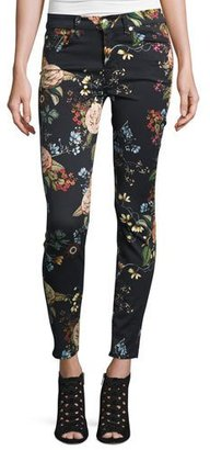 7 For All Mankind The Ankle Skinny Floral-Print Jeans, English Botanical $199 thestylecure.com