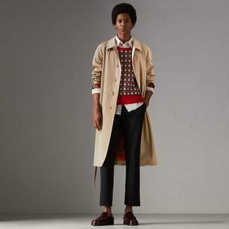 Burberry Archive-print-lined Tropical Gabardine Car Coat