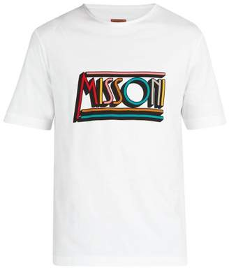 Missoni Mare - Logo Print Cotton T Shirt - Mens - White