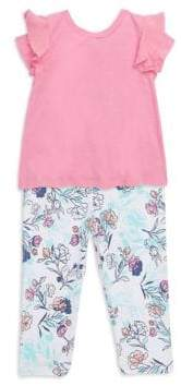 Splendid Baby's, Toddler's, Little Girl's& GIrl's Top and Floral Legging Set