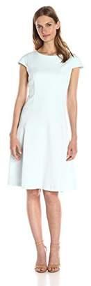 Lark & Ro Women's Cap Sleeve Fit and Flare Dress