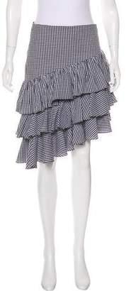 Intermix Gingham Knee-Length Skirt