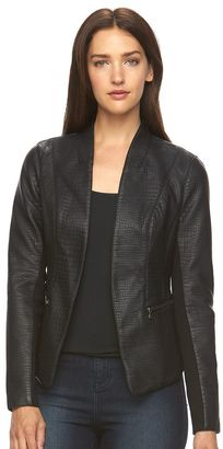 Women's Apt. 9® Textured Faux-Leather Blazer $78 thestylecure.com