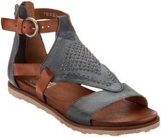 Miz Mooz Leather Cut Out Sandals w/ Stud Details - Tessa